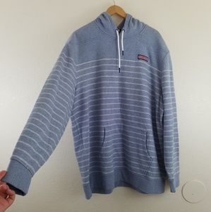 Vinyard Vines Blue Striped Mens Hoodie Sweater A5